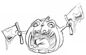 killer-pumpkinWeapons