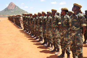 KWS rangers line up