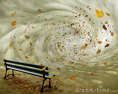 fantasy-bench-autumn-park-leaves-flying-whirlwind-49107715
