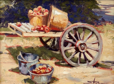 Apple Cart 12 x 16 acrylic on panel 300 dpi wm-1